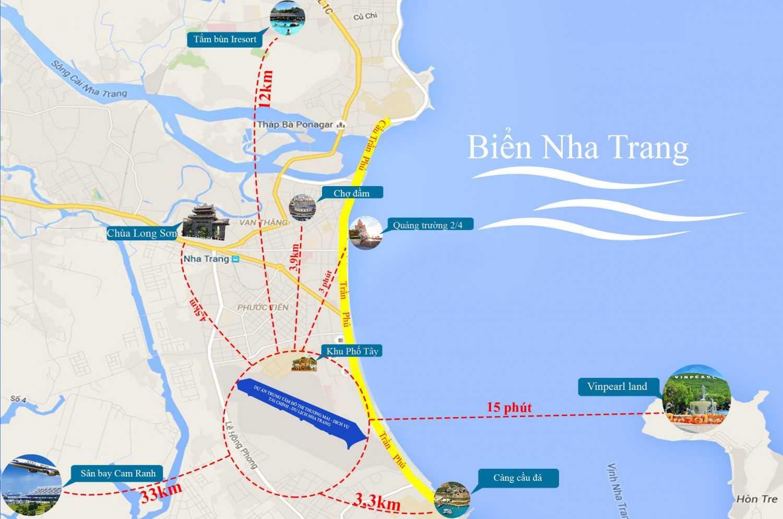 Vị trí khu đô thị sân bay Nha Trang