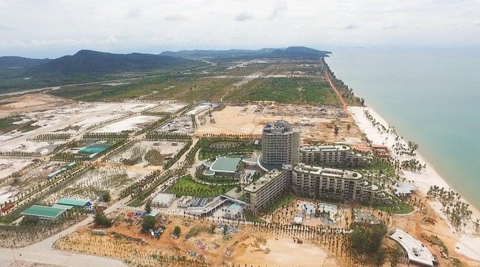 Một phần khu phức hợp Bãi Trường, xã Dương Tơ, huyện Phú Quốc - Ảnh: ĐINH QUANG THIỀU