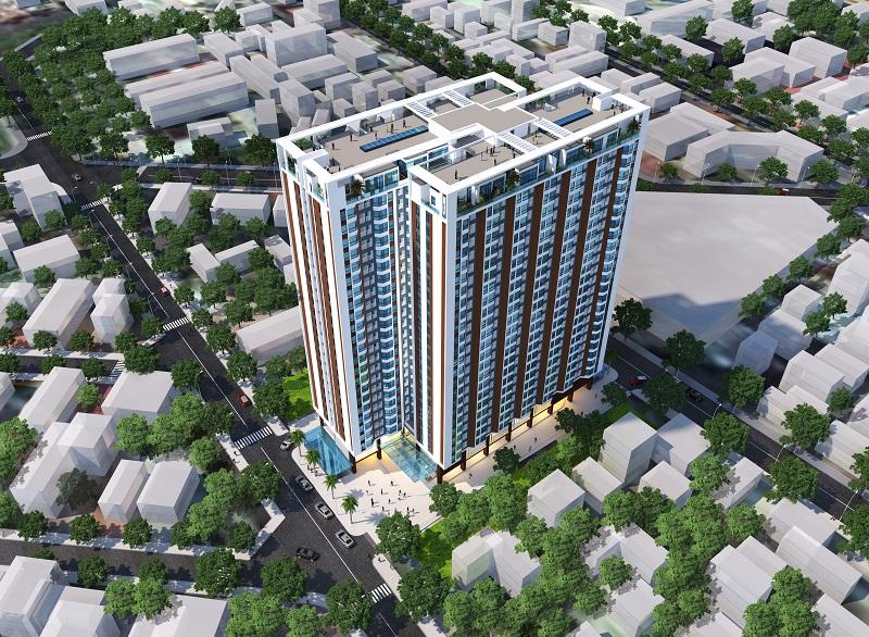 Phối cảnh dự án căn hộ HUD Building Nha Trang với 2 mặt tiền đường