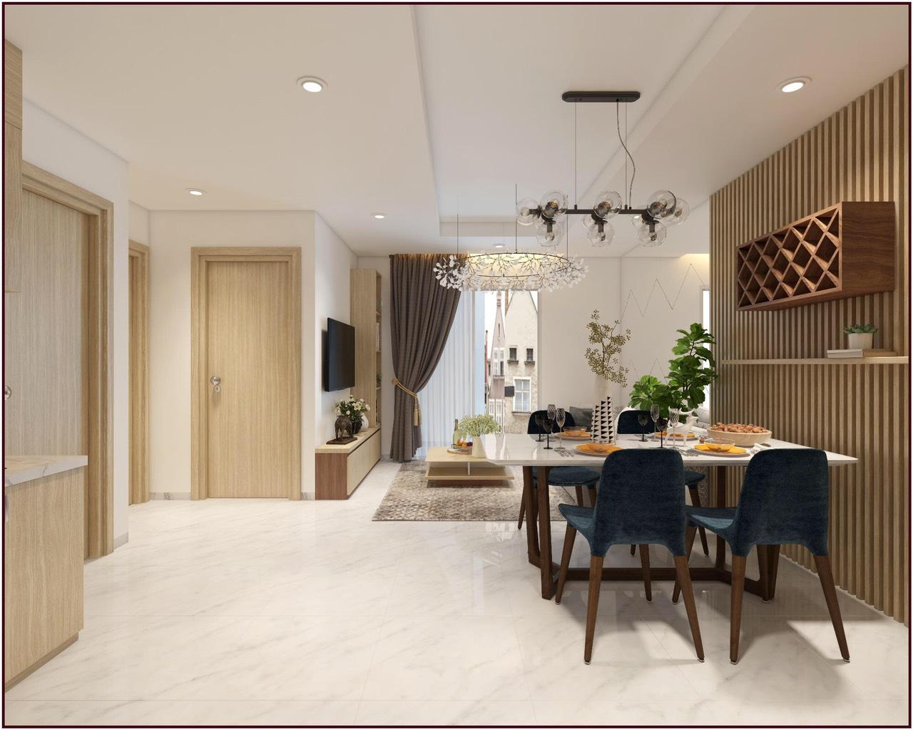 Phối cảnh căn hộ số 1 dự án căn hộ chung cư Happy Sky Nha Trang