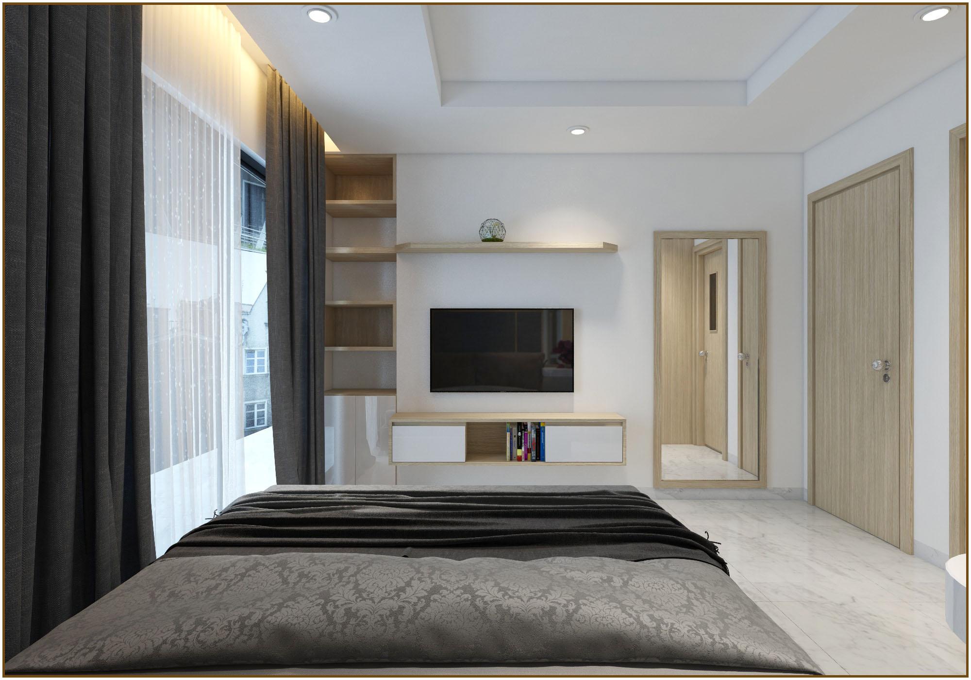 Phối cảnh căn hộ số 4 dự án căn hộ chung cư Happy Sky Nha Trang Phòng ngủ lớn